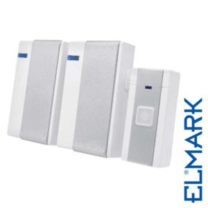 Ασύρματο Κουδούνι Διπλό 5018 230V σε Πρίζα ELMARK με 36 Μελωδίες και Οπτικό Σήμα