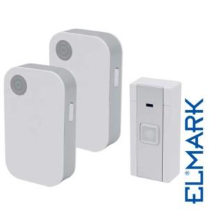 Ασύρματο Κουδούνι 5023/2 Διπλό με Μπαταρίες ELMARK με 36 Μελωδίες και Οπτικό Σήμα