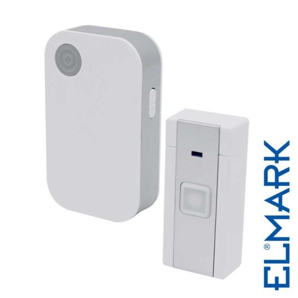 Ασύρματο Κουδούνι 5024 230V σε Πρίζα ELMARK με 36 Μελωδίες και Οπτικό Σήμα