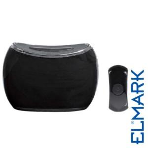 Ασύρματο Κουδούνι 5025BL Μαύρο με Μπαταρίες ELMARK με 36 Μελωδίες και Οπτικό Σήμα