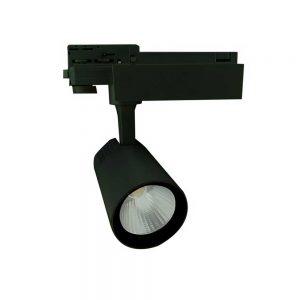 Σποτ Ράγας LED Ρυθμιζόμενο 40W 3000K Μαύρο Spotlight 6351