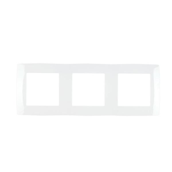 639190661-456-Πλαίσιο 3-πλό CITY Μεταλλικό Λευκό