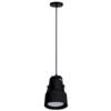 Κρεμαστό Φωτιστικό Μεταλλικό με λάμπα PAR30 12W E27 6400K 900lms Μαύρο Elmark 93SKY2211PCW/BL