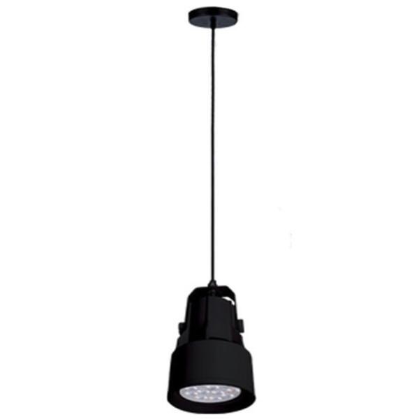 Κρεμαστό Φωτιστικό Μεταλλικό με λάμπα PAR30 12W E27 4000K 900lms Μαύρο Elmark 93SKY2211PW/BL