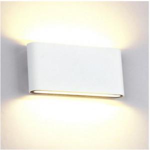 Απλίκα Πάνω/Κάτω 2Χ6W LED 1080lms 4000K Λευκή Αλουμινίου με στρογγυλεμένες άκρες IP65 Elmark 969LEDW12/WH