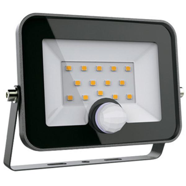Προβολέας LED +Ανιχνευτής SMD 20W Μαύρος 5-5500K Ψυχρό 1600 lumens IP65 Elmark 98HELIOS20SEN
