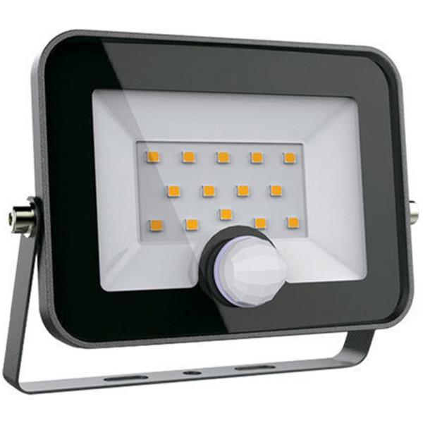 Προβολέας LED +Ανιχνευτής SMD 30W Μαύρος 5-5500K Ψυχρό 2400 lumens IP65 Elmark 98HELIOS30SEN