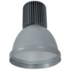 Καμπάνα Γκρί Αλουμινίου LED Βιομηχανικό φωτιστικό 30W 2400lms IP20 5500K Ψυχρό Elmark 98MINICOL-G