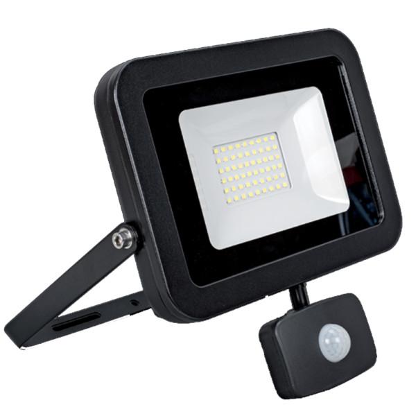 Προβολέας LED 10W Μαύρος 5500K 900lms IP65 Elmark 98VEGA10SENSLIM