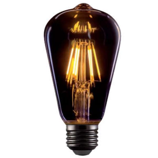 LED Avocado 8W E27 ST64 Filament Vintage 720lms 2800-3200K Golden Glass Elmark 99LED769