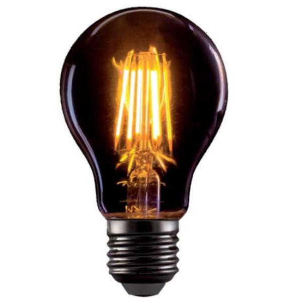 LED Dimmable 8W E27 A60 Filament Vintage 720lms 2800-3200K Golden Glass Elmark 99LED773D
