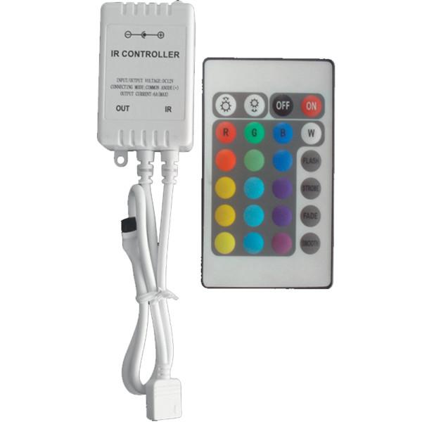 24 Πλήκτρα Controller 12V DC IR Για LED RGB Ταινίες IP20 Elmark 99RGBCONTROL1