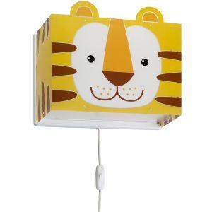 Ango 64568 - Little Tiger παιδικό φωτιστικό απλίκα τοίχου διπλού τοιχώματος
