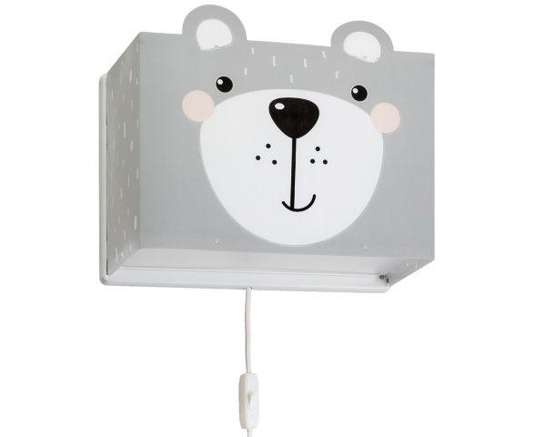 Ango 64578 - Little Teddy παιδικό φωτιστικό απλίκα τοίχου διπλού τοιχώματος