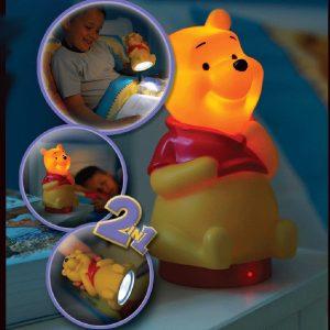 Ango 65102 - Winnie the Pooh κομοδίνου & φακός 2 σε 1 – LED