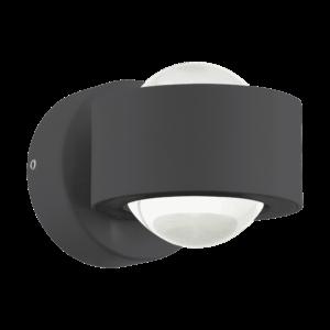 LED-ΦΩΤΙΣΤΙΚΟ ΤΟΙΧΟΥ/2 ΑΝΘΡΑΚΙ ONO 2 - 96049 - EGLO
