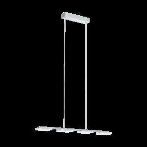 LED-ΚΡΕΜΑΣΤΟ ΦΩΤΙΣΤΙΚΟ / 4 ECKIG ΧΡΩΜΕ / SAT - ΔΙΑΦΑΝΟ CARTAMA 1 - 96524 - EGLO