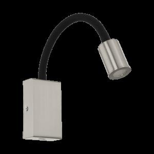 LED-ΦΩΤΙΣΤΙΚΟ ΤΟΙΧΟΥ/1 ΝΙΚΕΛ-M/ΜΑΥΡΟ M.USB TAZZOLI - 96567 - EGLO