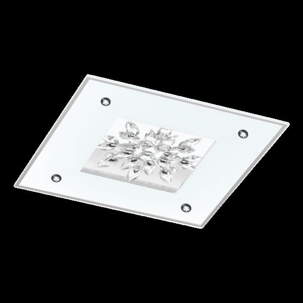 LED-ΦΩΤΙΣΤΙΚΟ ΟΡΟΦΗΣ 470X470 WS / ΔΙΑΦΑΝΟ / ΚΡΥΣΤΑΛΛΟ BENALUA 1 - 97498 - EGLO