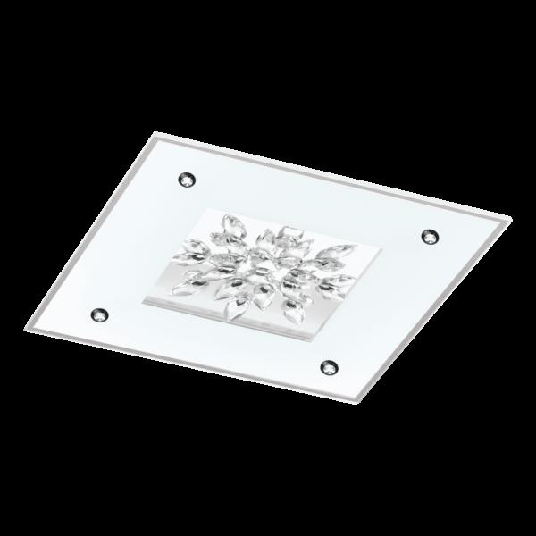 LED-ΦΩΤΙΣΤΙΚΟ ΟΡΟΦΗΣ 570X570 WS / ΔΙΑΦΑΝΟ / ΚΡΥΣΤΑΛΛΟ BENALUA 1 - 97499 - EGLO