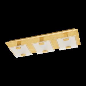 LED-ΦΩΤΙΣΤΙΚΟ ΤΟΙΧΟΥ / ΟΡΟΦΗΣ / 3 ΧΡΥΣΟ SAT / ΔΙΑΦΑΝΟ VICARO 1 - 97759 - EGLO