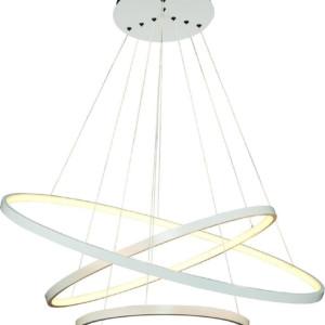 Κρεμαστό LED 110W Πολύφωτο με 2+1 Μεταλλικούς Λευκούς Δακτυλίους ARlight 0103313