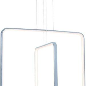 Κρεμαστό LED 92W Πολύφωτο με 2 Κάθετα Νίκελ Πλαίσια ARlight 0103315