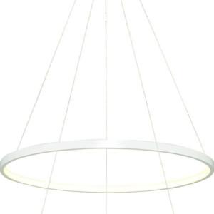 Κρεμαστό LED 61W Πολύφωτο με 2 δακτυλίους Μεταλλικό Λευκό ARlight 0104338