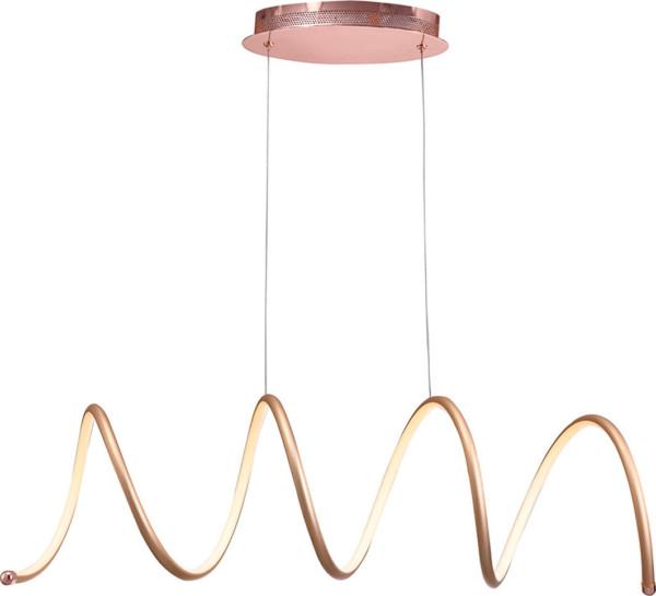 Κρεμαστό LED 25W Μονόφωτο Χάλκινο σε σχήμα ελατηρίου Οριζόντιο ARlight 0104340