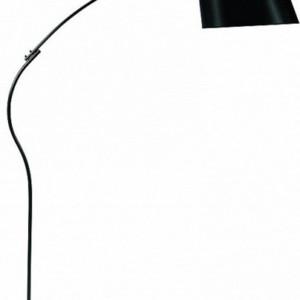 Φωτιστικό Δαπέδου Κούρμπα Μεταλλικό με Μαύρο Υφασμάτινο Καπέλο και Μαρμάρινη Βάση CS-8027-BK ARlight