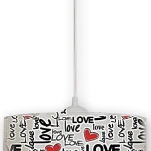 Φωτιστικό Κρεμαστό Love Πλαστικό TZ-1305