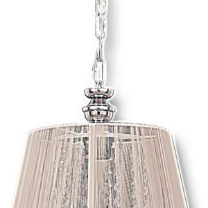 Φωτιστικό Κρεμαστό Λευκό Καπέλο με Κρύσταλλα TZ-936-1 A