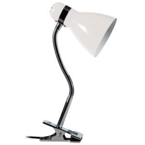Φωτιστικό Γραφείου Σπιράλ με Μανταλάκι Λευκό HD-724 ARlight