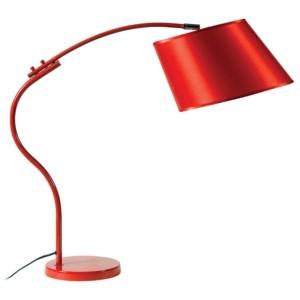 Φωτιστικό Γραφείου Πορτατίφ Μεταλλικό Κόκκινο με Καμπύλη Καπέλλο Κόκκινο CS 8028 RD Arlight