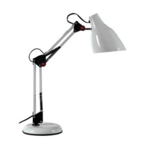 Φωτιστικό Γραφείου Μεταλλικό με Σπαστή Βάση Λευκό HD-812 ARlight