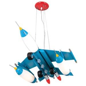Παιδικό Φωτιστικό Κρεμαστό 1Φ Μεταλλικό Μπλε Αεροπλάνο CL-4312 C ARlight