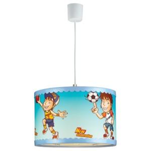 Παιδικό Φωτιστικό Κρεμαστό 1Φ Μπλε Ποδοσφαιριστής Πλαστικός Κύλινδρος CL-4334 S ARlight