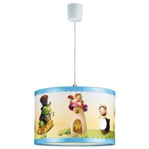 Παιδικό Φωτιστικό Κρεμαστό 1Φ Σπιτάκι-Βάτραχος Πλαστικός Κύλινδρος CL-4334 W ARlight