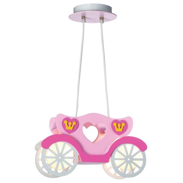 Παιδικό Φωτιστικό Κρεμαστό 2Φ Πλαστική Ροζ Άμαξα CL-4330 ARlight