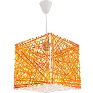 Κρεμαστό Μονόφωτο Φωτιστικό Κύβος Ακρυλικό/Plexiglass Πορτοκαλί InLight 4339