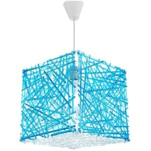 Κρεμαστό Μονόφωτο Φωτιστικό Κύβος Ακρυλικό/Plexiglass Μπλέ InLight 4339