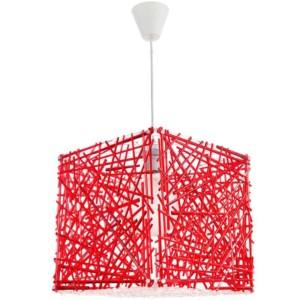 Κρεμαστό Μονόφωτο Φωτιστικό Κύβος Ακρυλικό/Plexiglass Κόκκινο InLight 4339