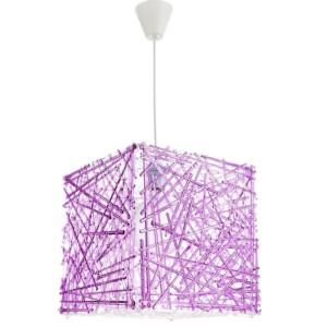 Κρεμαστό Μονόφωτο Φωτιστικό Κύβος Ακρυλικό/Plexiglass Μωβ InLight 4339