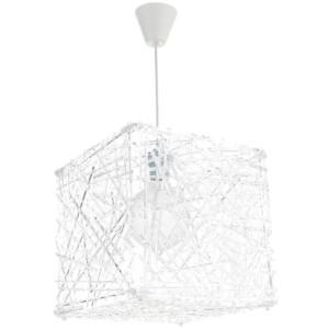Κρεμαστό Μονόφωτο Φωτιστικό Κύβος Ακρυλικό/Plexiglass Λευκό InLight 4339