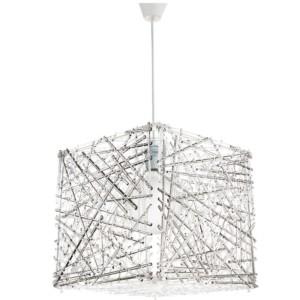 Κρεμαστό Μονόφωτο Φωτιστικό Κύβος Ακρυλικό/Plexiglass Φιμέ InLight 4339