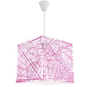 Κρεμαστό Μονόφωτο Φωτιστικό Κύβος Ακρυλικό/Plexiglass Ροζ InLight 4339