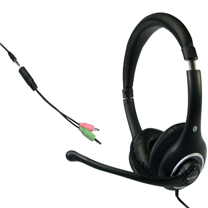Sandberg Ακουστικά Plug'n Talk Headset Black 125-93