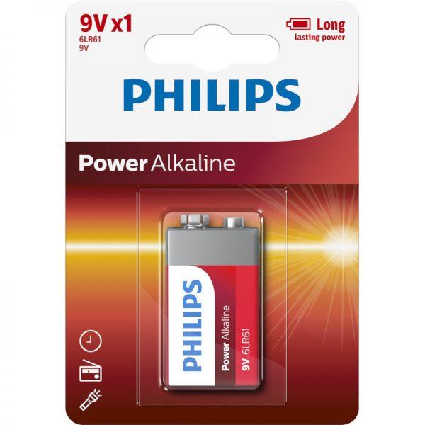 Philips 6LR61P1B/GRS Αλκαλικές μπαταρίες υψηλής απόδοσης 1 τμχ 9V