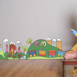 Διακοσμητική Μπορντούρα Τοίχου Little Train ango 14006