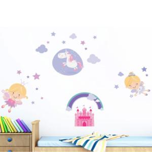 Διακοσμητικά Αυτοκόλλητα Τοίχου Happy Fairies L ango 18106